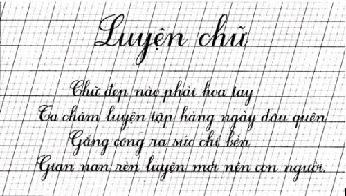 Sở hữu nét chữ thanh thoát với phương pháp viết chữ đẹp
